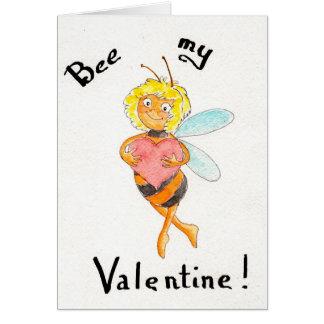 Cartão Abelha meus namorados