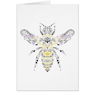 Cartão abelha ornamentado do mel