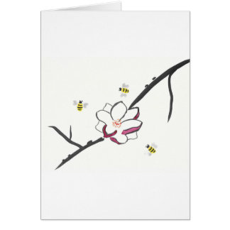 Cartão Abelhas da magnólia e do mel