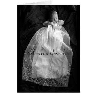 Cartão abençoado céu do bebê