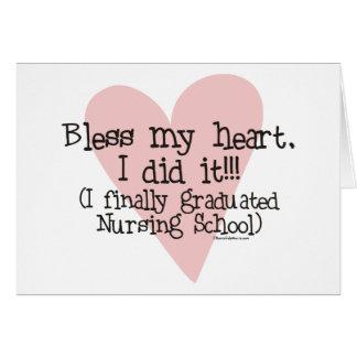 Cartão Abençoe meu coração - eu fi-lo!