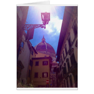 Cartão Abóbada de Brunelleschi em Florença, Italia