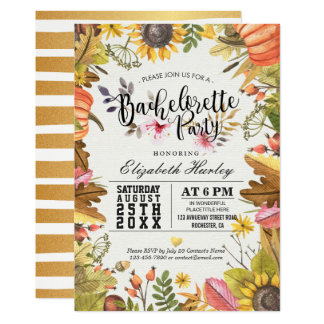 Cartão Abóbora da folha da queda do bordo do outono da