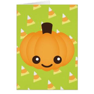 Cartão Abóbora de Kawaii