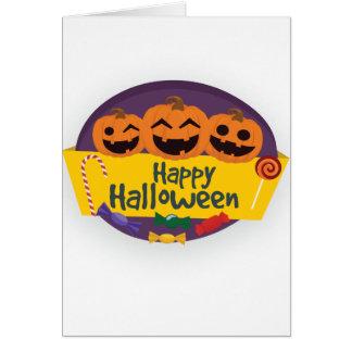 Cartão Abóbora feliz do Dia das Bruxas