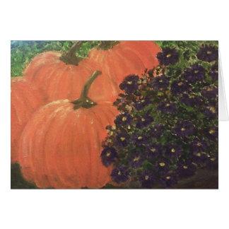 Cartão Abóbora floral