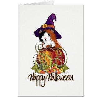 Cartão Abóbora o Dia das Bruxas de n da cobaia '