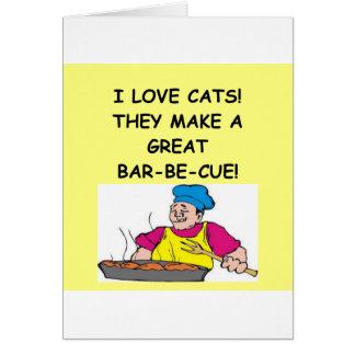 Cartão aborrecedor do gato