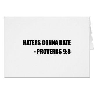 Cartão Aborrecedores que vão diar provérbio