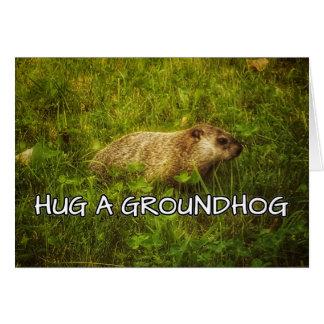 Cartão Abrace um groundhog