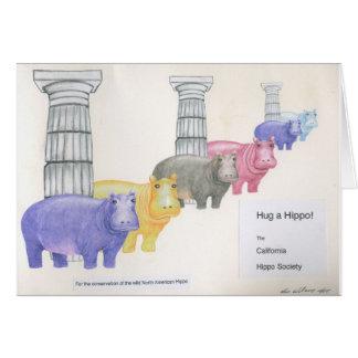 Cartão Abrace um hipopótamo!