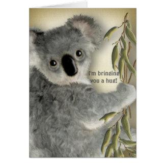 Cartão Abraço bonito do Koala