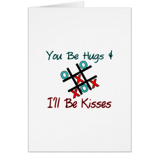 Cartão Abraços & beijos