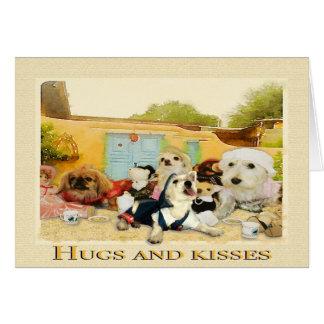 Cartão Abraços e beijos, mamã você é o melhor