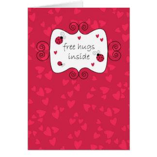 Cartão Abraços livres para dentro