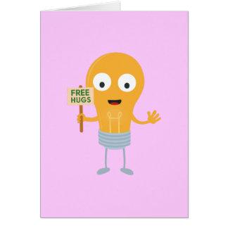 Cartão abraços livres Zggq6 feliz da ampola