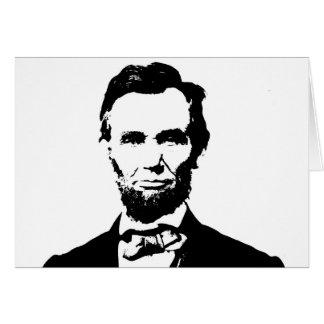 Cartão Abraham Lincoln