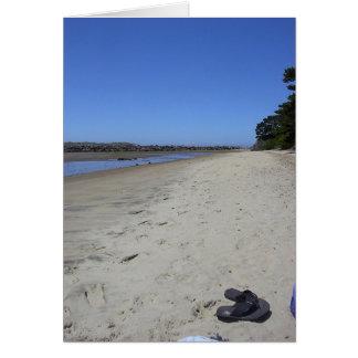 Cartão Abrandamento da praia