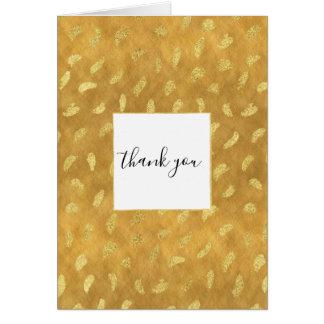 Cartão Abstrato bonito do encanto do ouro