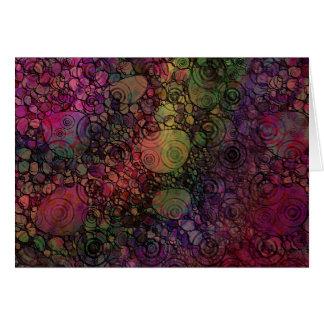 Cartão Abstrato colorido com círculos pretos & sujos