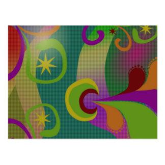 Cartão abstrato colorido do design