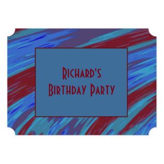 Cartão Abstrato da abanada da cor de azul vermelho