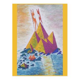 Cartão abstrato da arte da ilha
