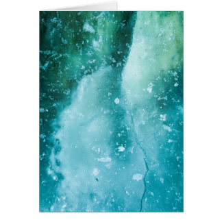 Cartão abstrato da arte do gelo