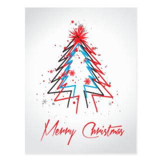 Cartão abstrato da árvore de Natal