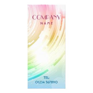 Cartão abstrato da cremalheira do design planfeto informativo colorido