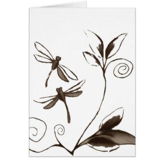 Cartão Abstrato da libélula