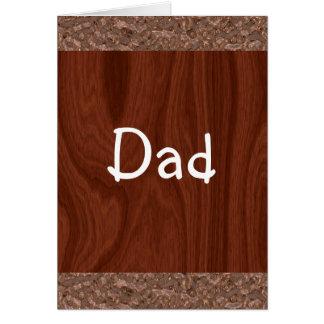 Cartão Abstrato de madeira da grão