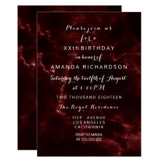 Cartão Abstrato de mármore marrom do evento de Borgonha