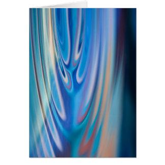 Cartão Abstrato de turquesa das ondinhas da água