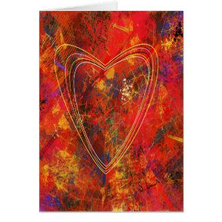 Cartão abstrato do amor