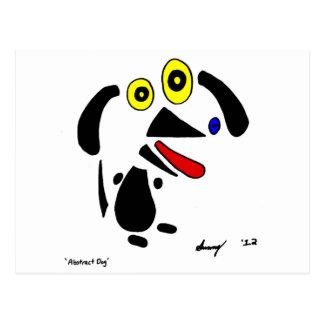 Cartão abstrato do cão