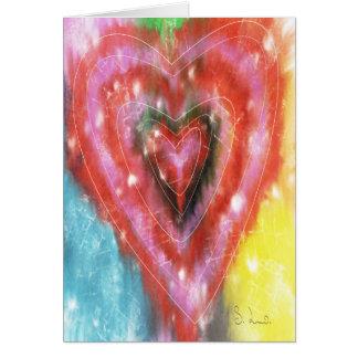 Cartão abstrato do coração