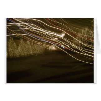 Cartão abstrato do feriado da foto das luzes do