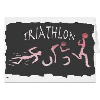 Cartão Abstrato do funcionamento da bicicleta da natação