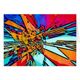 Cartão Abstrato do pop art