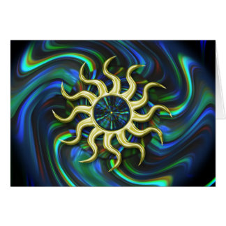 Cartão abstrato do solstício de inverno de Sun