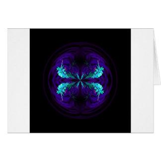 Cartão Abstrato florescido azul do globo