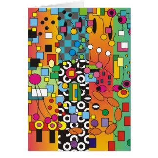 Cartão abstrato Funky