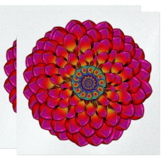 Cartão Abstrato infinito do olho da flor da dália