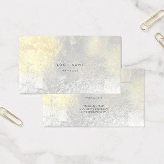 Cartão abstrato metálico branco de prata da