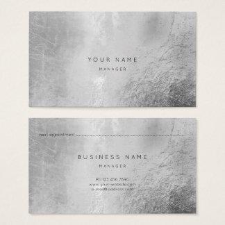Cartão abstrato metálico da nomeação das cinzas de