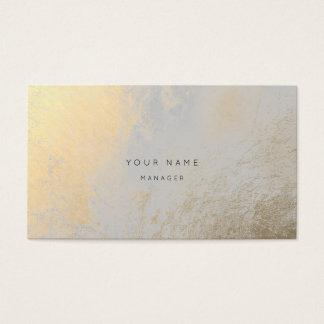 Cartão abstrato metálico da nomeação do ouro de