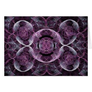 Cartão Abstrato roxo do Fractal da consciência