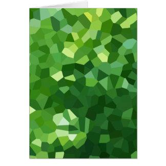 Cartão Abstrato verde do mosaico do vitral da forma do