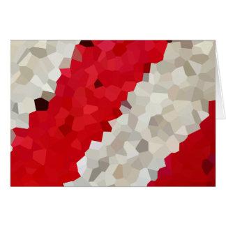 Cartão Abstrato vermelho e branco do feriado de doces do